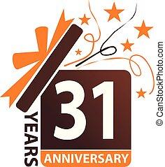 31 Years Gift Box Ribbon Anniversary