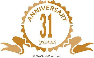 31 Years Ribbon Anniversary