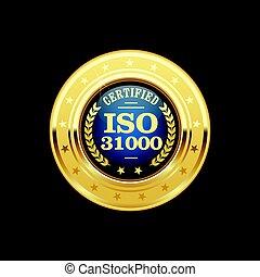31000, medalla, -, dirección, riesgo, iso, estándar