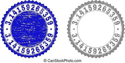 3.14159265359, grunge, timbre, cachets, textured, ruban