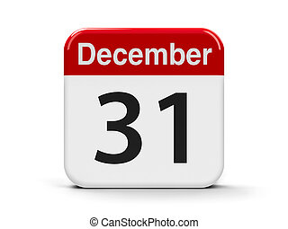 31st December - Calendar web button - The Thirty First of...