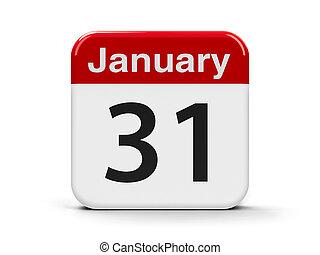 31st January - Calendar web button - The Thirty First of...