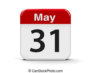 31st May - Calendar web button - The Thirty First of May -...