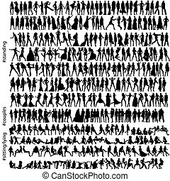 320, móda, silhouettes