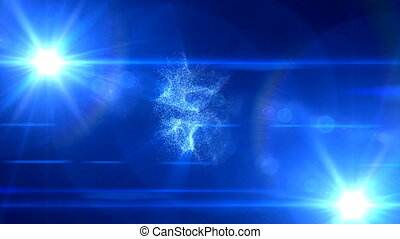 321 blue flare background