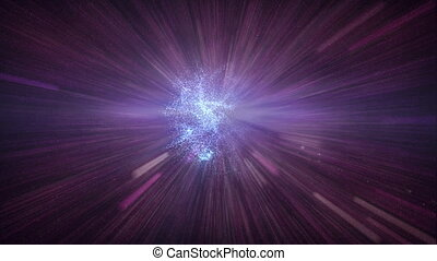 321 blue flare space background