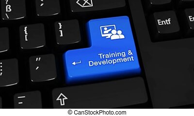 324. Training and Development Rotation Motion On Computer Keyboard Button.