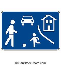325a1, zone, panneaux signalisations, piéton, allemand