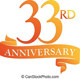 33 Year Ribbon Anniversary