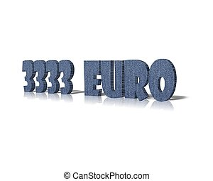 3333 euro 3d word