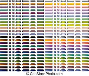 336, web, set, kleurrijke, knopen
