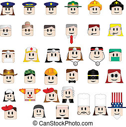 34 Profession Avatars - Set of 34 icons representing...