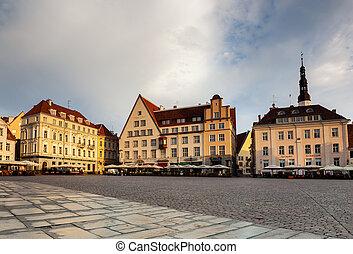 344-tallinn market square - Raekoja plats Town Hall Square...