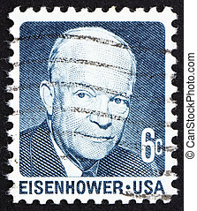 34e, eisenhower, uni, usa, timbre, nous, -, amérique, david...