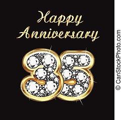 35, anni, anniversario, compleanno