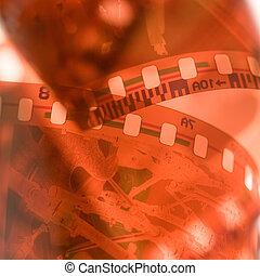 35 mm film background. Close up . Small DOF