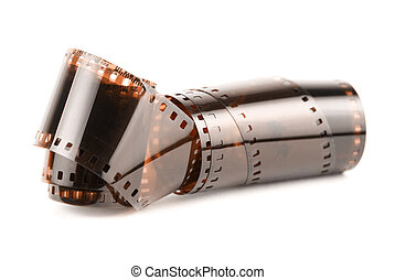 35 mm film isolated in white background