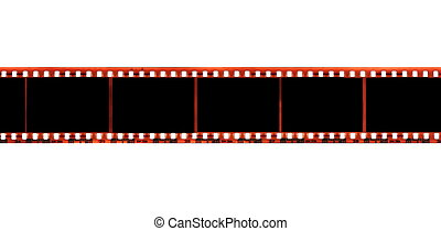35 mm film strip isolated on white
