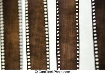35 mm film strip on white background