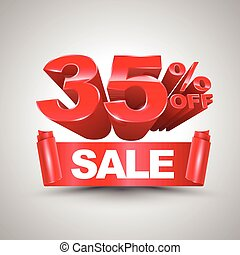 35 percent off sale red