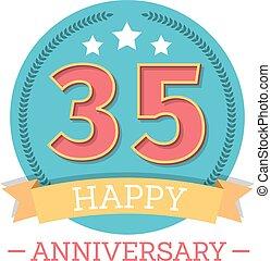 35 Years Anniversary Emblem