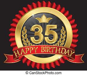 35 years happy birthday golden labe