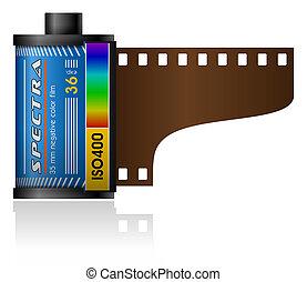 35mm, boîte métallique, pellicule