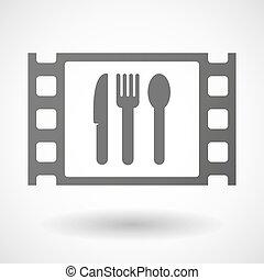 35mm, cornice, film, coltelleria