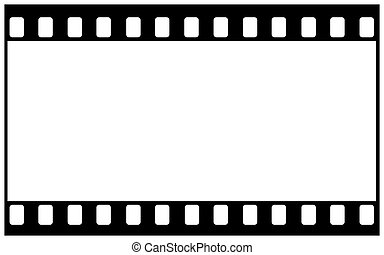 Artwork of film frame with sprocket holes and wide image area
