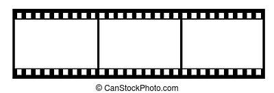 35mm film illustration - 35mm film isolated vector...