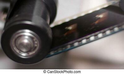 35mm Film Projector Gear Projecting