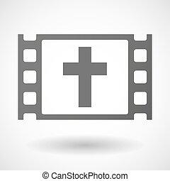 35mm, keret, keresztény, kereszt, film