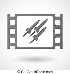 35mm, missili, cornice, film