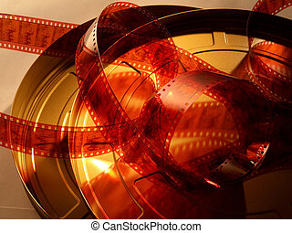 Motion Picture Film Reel and Film Can