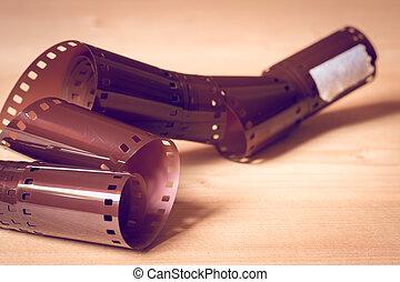35mm, negativo, película, com, filtro, efeito, retro, vindima, estilo
