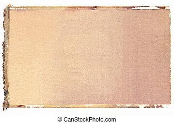 Blank vertical polaroid transfer on white background