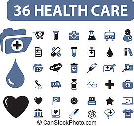 36 health care signs, vector