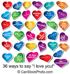 """36 ways to say """"I love You"""""""