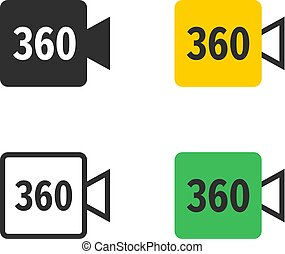 360 דרגה, פנורמי, מצלמת וידאו, איקונים