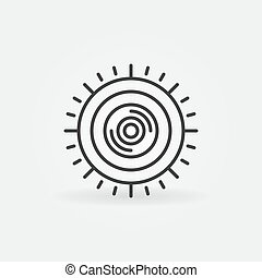 360-degree Camera linear vector concept minimal icon