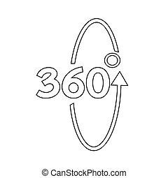 360 Degree icon