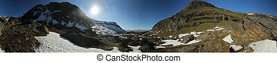360 Degree Panorama of the valley Karkevagge in Northern Sweden