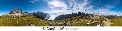 360 degree panorama shot of Dolomits