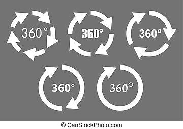 360 degree rotation icons