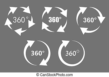 360 degree rotation icons