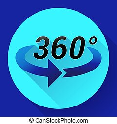 360 Degree View Related Vector Icon
