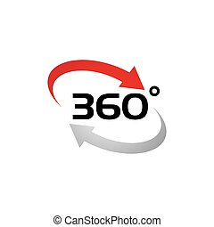 360 Degree View Related Vector Icons