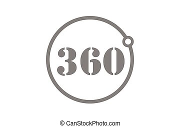 360 Degrees View Vector Icon