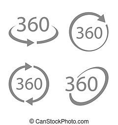 360 Degrees View Vector set