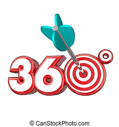 360 Degrees Whole Full Complete Number 3d Illustration
